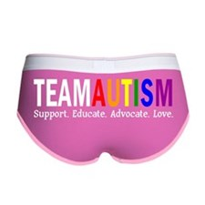 Team Autism. Support Educate Adv Women's Boy Brief