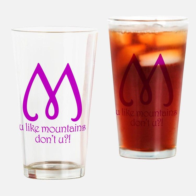 lpk_mountains Drinking Glass