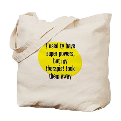 I used to have super powers, Tote Bag