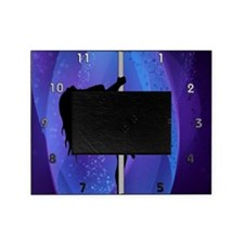 Stripper Girl - Purple Clock Picture Frame