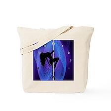 Stripper Girl - Purple Clock Tote Bag