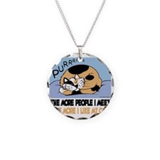 The More People I Meet Cat Necklace
