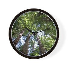 up into treetops Wall Clock