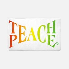 Teache Peace, Autism Awareness 3'x5' Area Rug