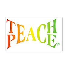 Teache Peace, Autism Awarenes Rectangle Car Magnet
