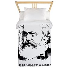 Disappointed Marx  Twin Duvet