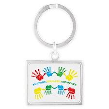 Autism hand Landscape Keychain