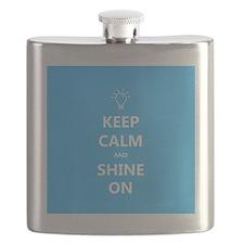 Keep Calm and Shine On Autism Awareness Flask