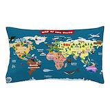 World map Pillow Cases