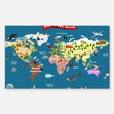 World Map For Kids - Lets Expl Decal
