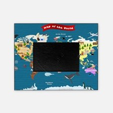 World Map For Kids - Lets Explore Picture Frame