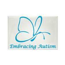 Embracing Autism Rectangle Magnet