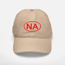 NA Oval (Red) Baseball Baseball Cap