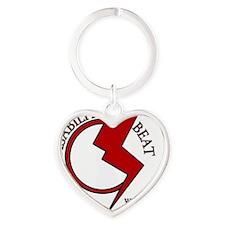 Disability Beat Radio Heart Keychain