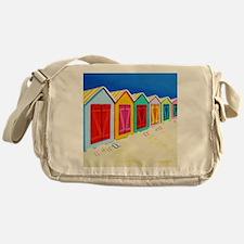 Cabana Row Shower Curtain BU Messenger Bag