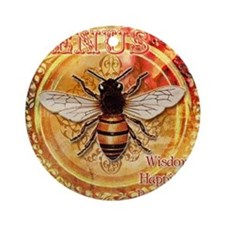 Venus Bee Round Ornament