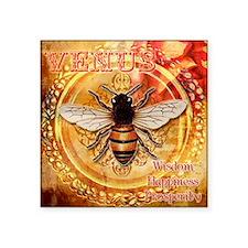 "Venus Bee Square Sticker 3"" x 3"""