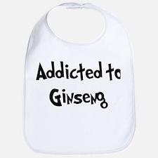 Addicted to Ginseng Bib