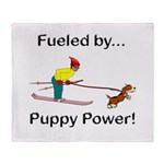 Fueled by Puppy Power Throw Blanket