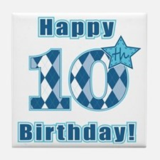 Happy 10th Birthday! Tile Coaster