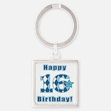 Happy 16th Birthday! Square Keychain