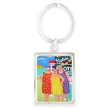 Tourist Season Beach Seashore Portrait Keychain