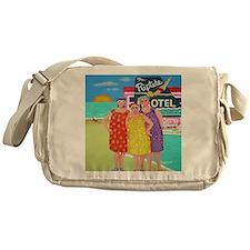 Tourist Season Beach Seashore Messenger Bag