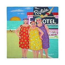 Tourist Season Beach Seashore Queen Duvet