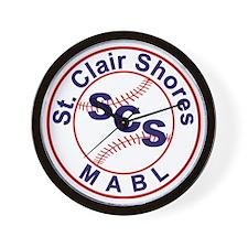 SCS MABL Baseball League Wall Clock