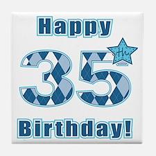 Happy 35th Birthday! Tile Coaster