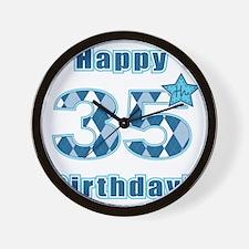 Happy 35th Birthday! Wall Clock