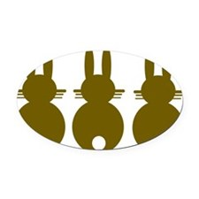 rabbit Oval Car Magnet