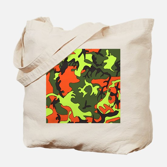 Bright Colored Camouflage Tote Bag