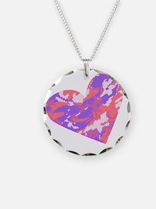 camo heart Necklace