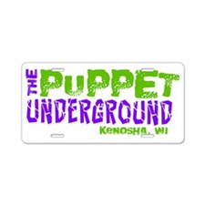 The Puppet Underground Aluminum License Plate