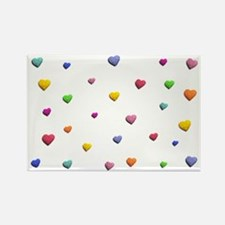 HEARTS OF LOVE * Rectangle Magnet