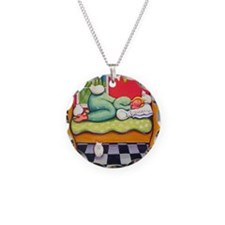 Cat Napping Woman Italy Necklace