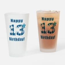 Happy 13th Birthday! Drinking Glass