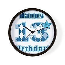 Happy 13th Birthday! Wall Clock