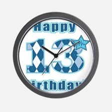 Happy 13th Birthday! Wall Clock