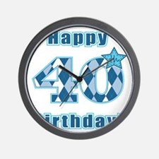 Happy 40th Birthday! Wall Clock