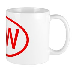 MW Oval (Red) Mug
