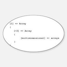 Multidimensional Arrays Sticker (Oval)
