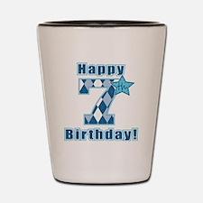 Happy 7th Birthday! Shot Glass