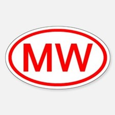 MW Oval (Red) Oval Decal
