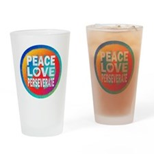 Peace Love Perseverate Drinking Glass