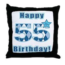 Happy 55h Birthday! Throw Pillow