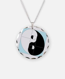 Golden Ratio Yin and Yang Necklace