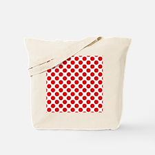 White and Red Polka Dot Tote Bag