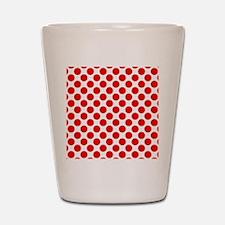 White and Red Polka Dot Shot Glass